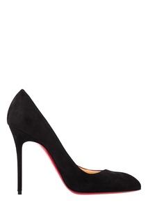 Черные велюровые туфли Corneille 100 Christian Louboutin