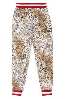 Брюки с леопардовым принтом Monnalisa