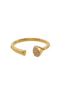 Открытое кольцо с кристаллами Exclaim