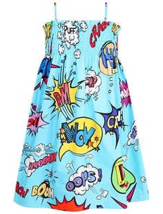 Голубой сарафан с принтом Dolce&Gabbana Children