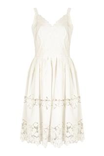 Платье на бретелях с кружевом Dolce&Gabbana