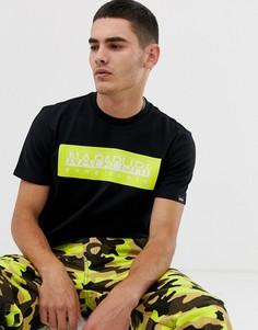 Черная футболка Napapijri The Tribe Geographic - Черный