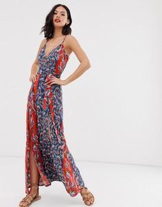 Платье макси с принтом Parisian - Мульти