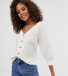 Блузка из сирсакера в полоску на пуговицах Vero Moda Tall - Мульти