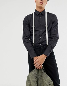 Светло-серые подтяжки Twisted Tailor - Серый