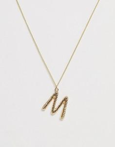 Ожерелье с инициалом M Pieces - Золотой