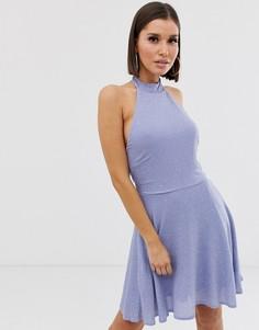 Платье мини с блестящей отделкой Lipsy - Синий