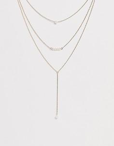 Трехъярусное ожерелье Johnny Loves Rosie - Золотой