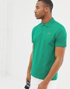 Зеленое поло с логотипом Lacoste Sport - Зеленый