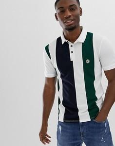 Полосатая футболка-поло Le Breve - Белый