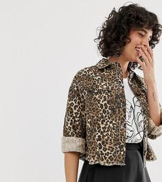 Куртка с леопардовым принтом River Island - Коричневый