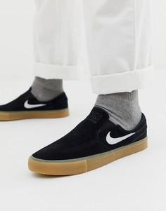 Кеды-слипоны Nike SB Janoski Zoom - Черный