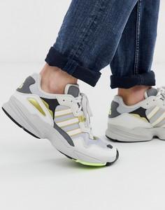 Золотисто-серые кроссовки adidas Originals yung-96 - Белый