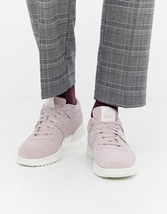 Розовые замшевые кроссовки Reebok workout - Розовый