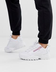 Белые кроссовки с молниями Fila Disruptor 3 - Черный