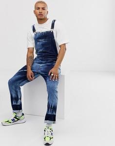 Синий джинсовый комбинезон ASOS DESIGN - Синий