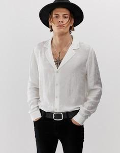 Белая жаккардовая атласная рубашка классического кроя ASOS DESIGN - Белый