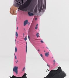 Розовые джинсы с принтом тай-дай Reclaimed Vintage Inspired - Розовый