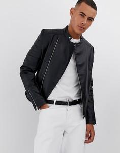 Черная куртка из искусственной кожи ASOS DESIGN - Черный