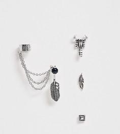 Серебристые серьги-гвоздики ASOS DESIGN - Серебряный