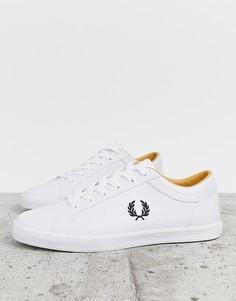 Белые кожаные кроссовки Fred Perry baseline - Белый