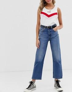 Прямые укороченные джинсы Levis - Синий