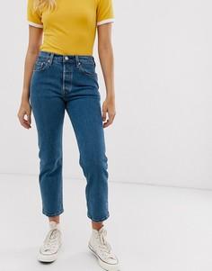 Укороченные джинсы Levis 501 - clean rinse - Синий