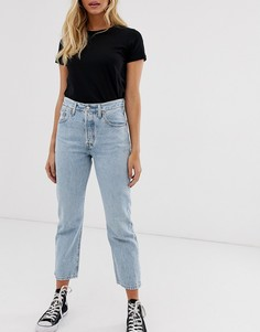 Светлые укороченные джинсы Levis 501 - Синий