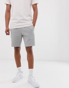 Серые меланжевые шорты из пике River Island - Серый