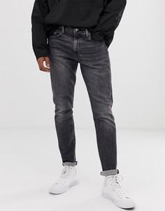 Серые узкие джинсы с суженными книзу штанинами и заниженной талией Levis 512 - richmond - Серый