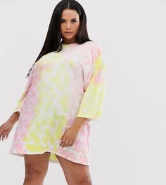 Платье-футболка с принтом тай-дай Missguided Plus - Мульти