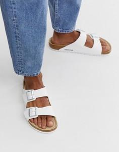 Белые сандалии Birkenstock Arizona birko-flor - Белый
