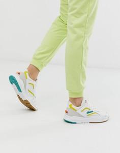 Кожаные кроссовки с белыми и желтыми вставками Ellesse Contest - Мульти