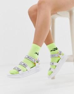 Белые массивные сандалии с логотипом Ellesse Denso - Белый