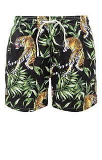 Купальные шорты Черные купальные шорты с карманами MC2 Saint Barth