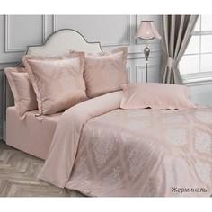 Комплект постельного белья Ecotex евро, сатин-жаккард Эстетика Жерминаль (4650074957203)