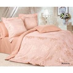 Комплект постельного белья Ecotex евро, сатин-жаккард Эстетика Жизель (4607132579761)