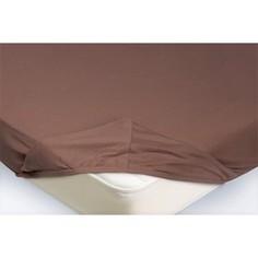 Простынь на резинке Ecotex 90x200x20 светло-коричневый (4650074959085)