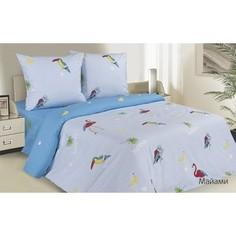Комплект постельного белья Ecotex семейный, поплин Поэтика Майами (4660054341724)