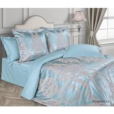 Комплект постельного белья Ecotex евро, сатин-жаккард Эстетика Франческа (4660054341199)