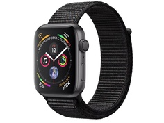 Умные часы APPLE Watch Series 4 44mm Space Grey Aluminium Case with Black Sport Loop MU6E2RU/A