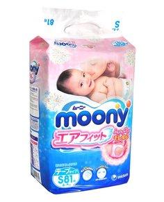 Подгузники Moony S 4-8кг 81шт 4903111243822