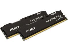Модуль памяти Kingston HyperX Fury Black DDR4 DIMM 2666MHz PC4-21300 CL16 - 16Gb KIT (2x8Gb) HX426C16FB2K2/16