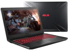Ноутбук ASUS ROG FX504GM-E4188T 90NR00Q2-M08130 (Intel Core i5-8300H 2.3 GHz/8192Mb/1000Gb + 128Gb SSD/No ODD/nVidia GeForce GTX 1060 6144Mb/Wi-Fi/Cam/15.6/1920x1080/Windows 10 64-bit)