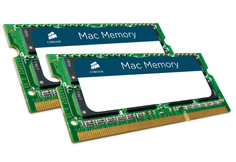 Модуль памяти Corsair Mac DDR3 SO-DIMM 1333MHz PC3-10600 - 16Gb KIT (2x8Gb) CMSA16GX3M2A1333C9