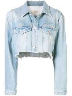 Givenchy укороченная джинсовая куртка