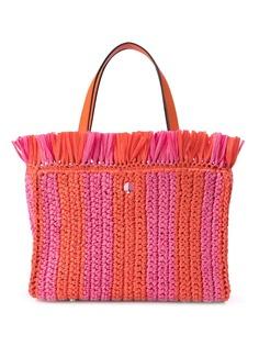 Kate Spade соломенная сумка-тоут в полоску