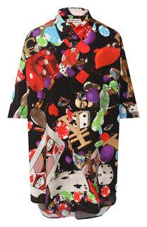 Рубашка с принтом Balenciaga
