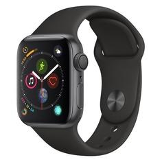 Смарт-часы APPLE Watch Series 4 40мм, темно-серый / черный [mu662/a]