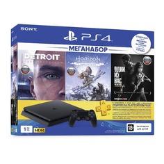 Игровая консоль SONY PlayStation 4 Detroit, Horizon: Zero Dawn,The Last of US 1ТБ, CUH-2208B, черный